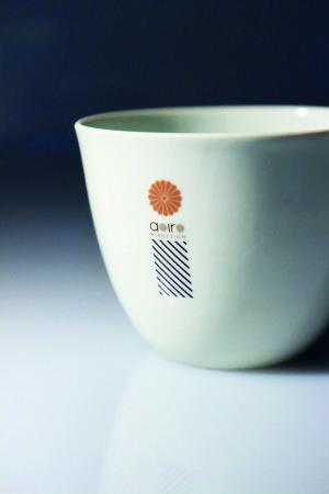 Von Union Klischee mit Tampondruck bedruckte Tasse