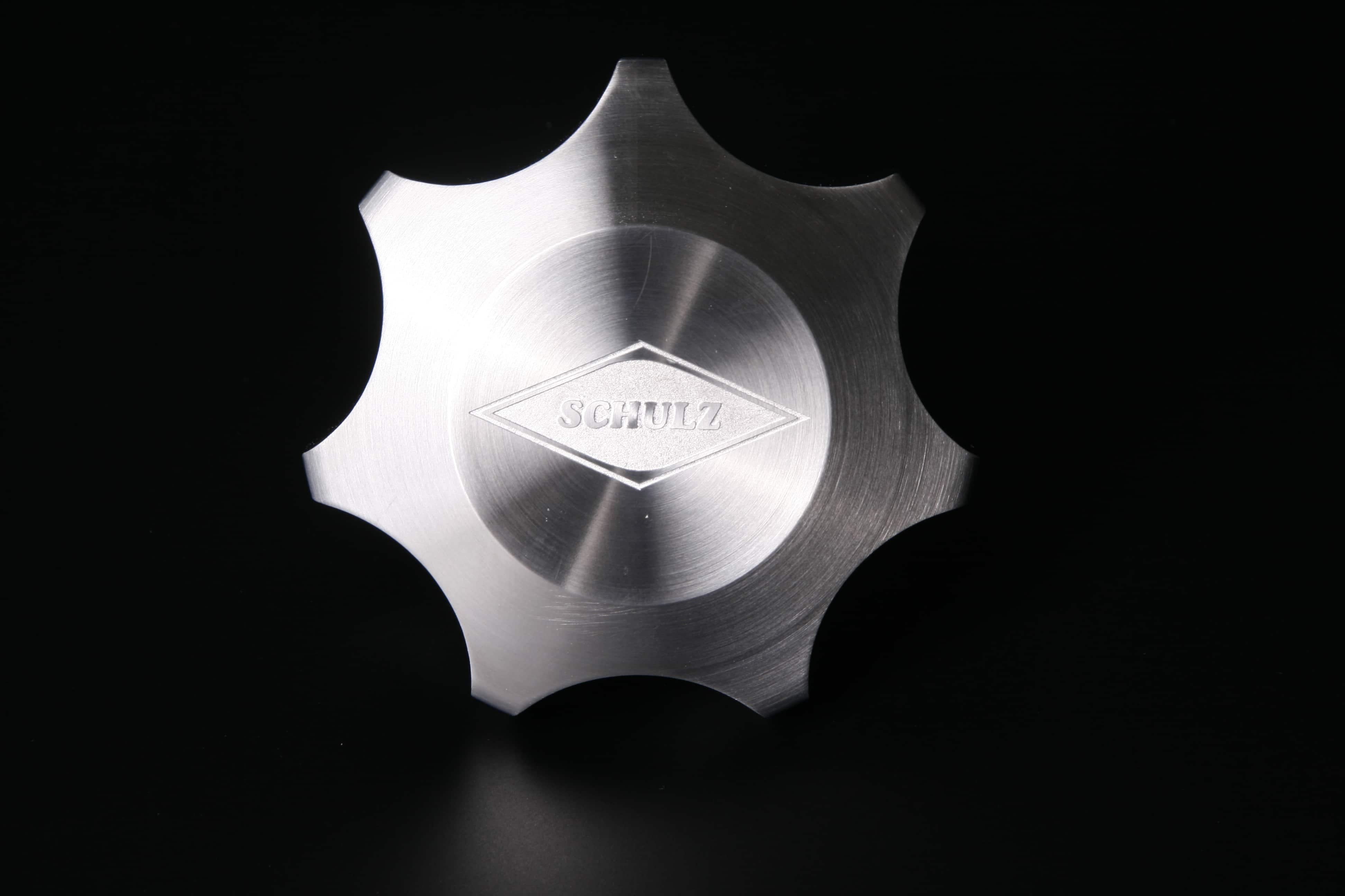 Ätztechnik: Absperrhahn aus Edelstahl mit Anätzung Logo