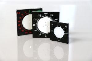 Skalenplatten mit Siebdruck