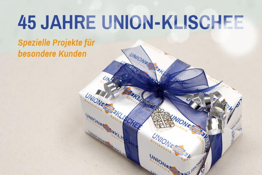 45 Jahre UNION-KLISCHEE: Ätzteil Geschenkanhänger