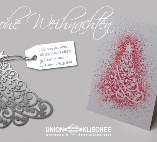 Geätzte Schablone mit Weihnachtsmotiven von Union Klischee